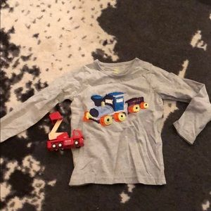 Baby boden long sleeve train tshirt 2-3